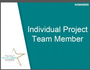 Diana was nominated and selected as a finalist for the 2016 OPS Project Excellence Award Individual Team Member Category